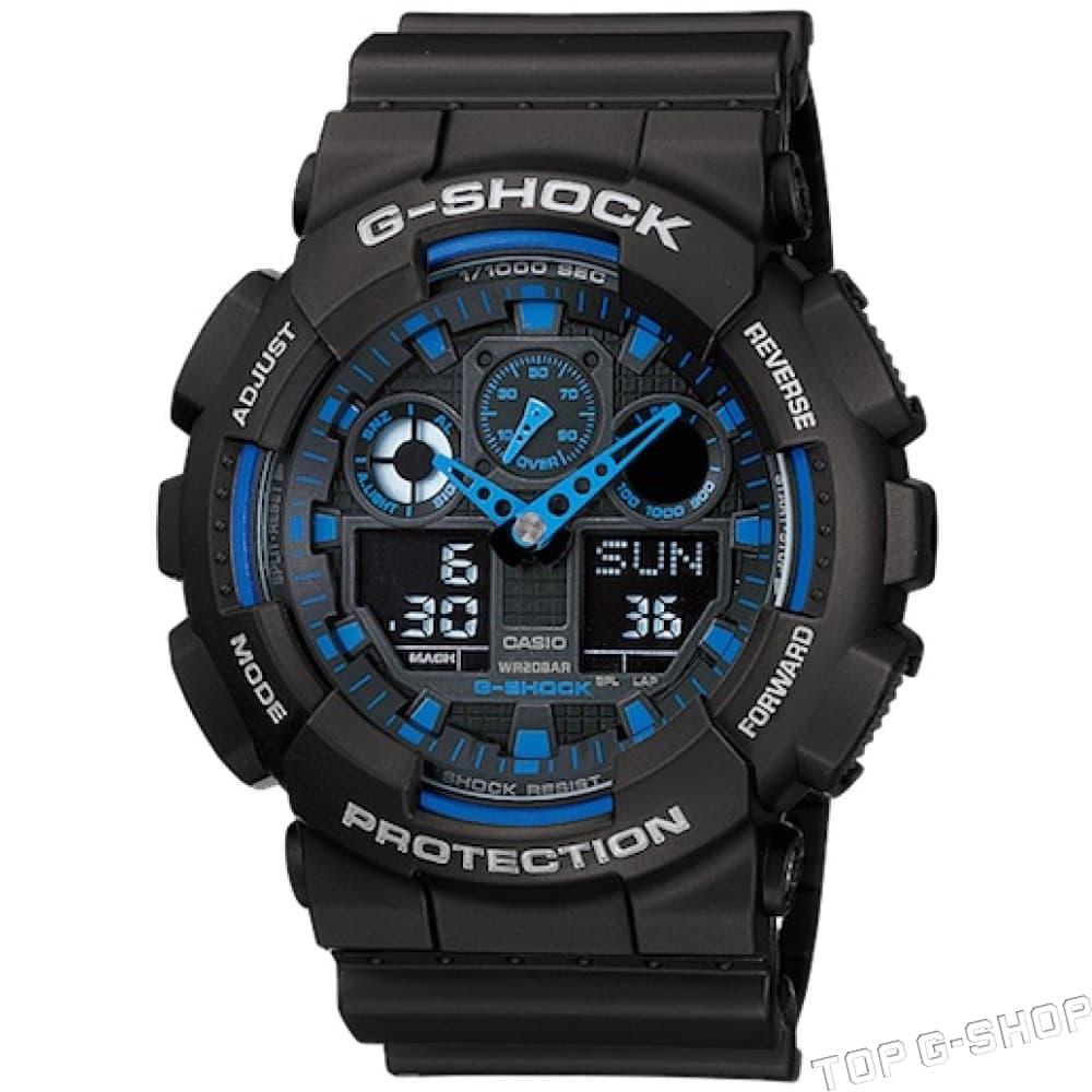 b9a5f1cd Casio G-Shock GA-100-1A2 - заказать наручные часы в Топджишоп
